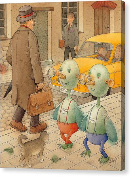 Martians Canvas Print by Kestutis Kasparavicius