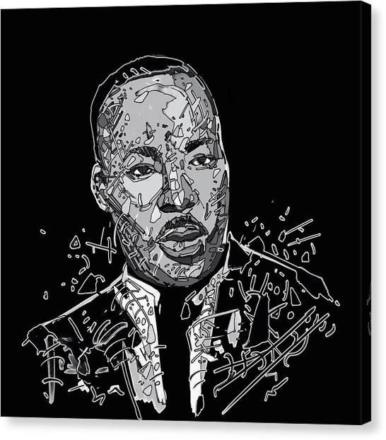 Martin Luther King Jr Canvas Print - Martin Luther King  by Bekim Art