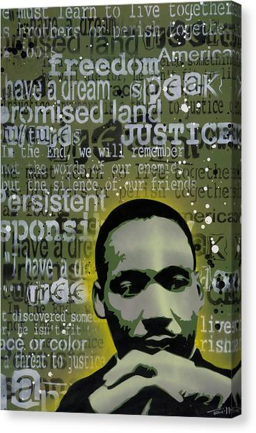 Martin Luther King Canvas Print by Tai Taeoalii