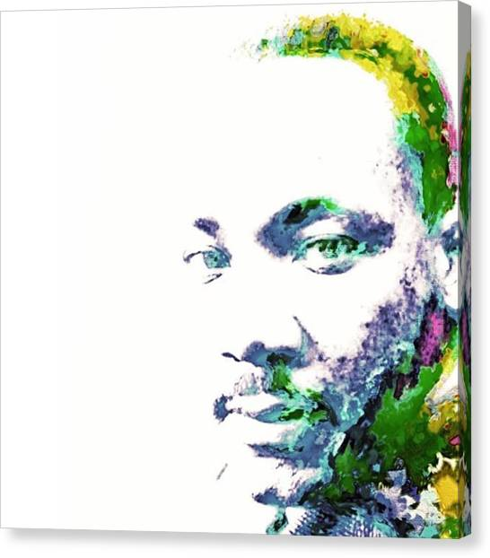Racism Canvas Print - Martin Luther King Jr. He Spoke For by David Haskett