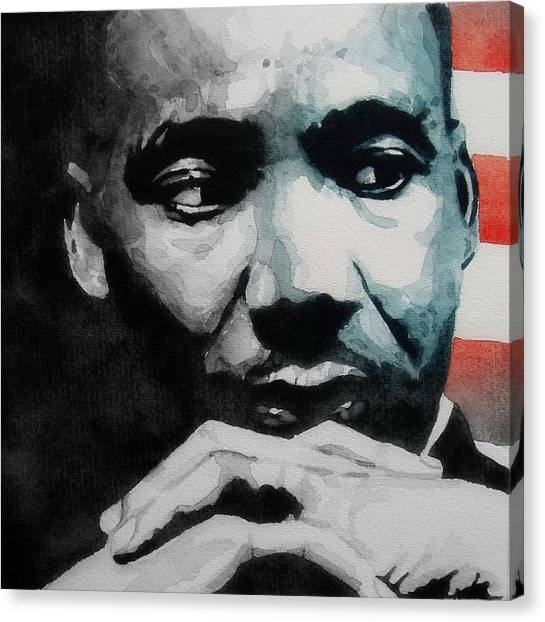 Rights Canvas Print - Martin Luther King Jr- I Have A Dream  by Paul Lovering