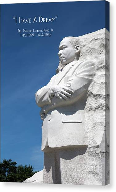 Canvas Print featuring the photograph Martin Luther King Jr. Monument by Steven Frame