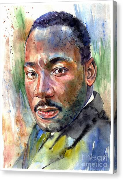 Vietnam War Canvas Print - Martin Luther King Jr. Painting by Suzann's Art