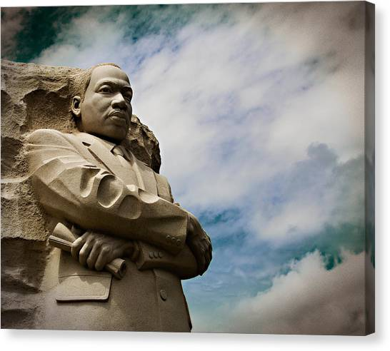 Alpha Phi Canvas Print - Martin Luther King by Petrice Henley