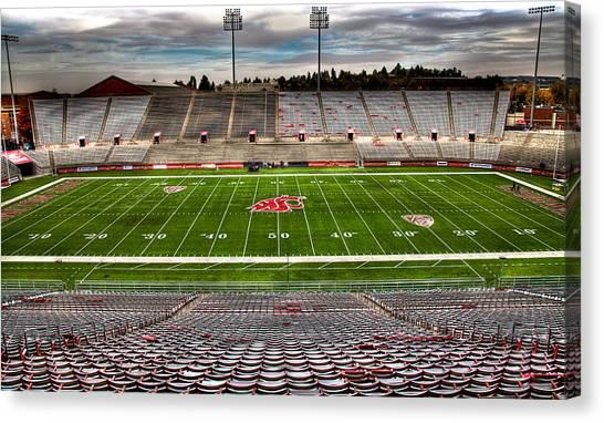 Washington State University Canvas Print - Martin Stadium The Home Of Cougar Football by David Patterson