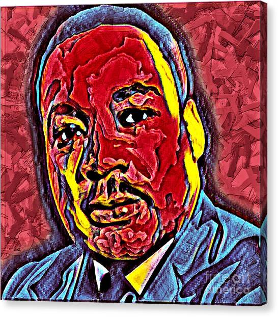 Martin Luther King Jr. Portrait Canvas Print