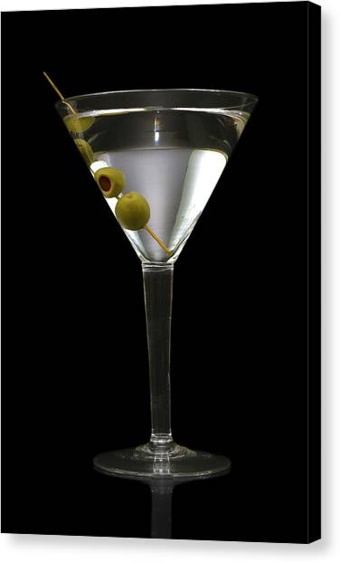 Beverage Canvas Print - Martini In Formal Dress by Kitty Ellis