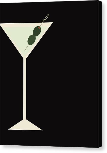 Martini Canvas Print - Martini by Julia Garcia