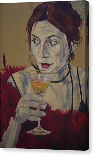 Martini Lady Canvas Print by Dennis Curry