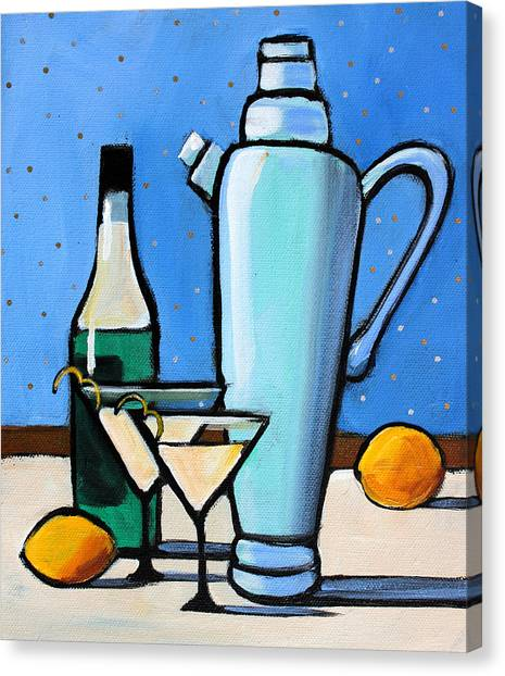 Martini Canvas Print - Martini Night by Toni Grote
