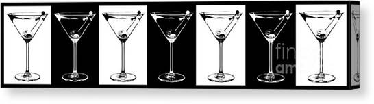 Gin Canvas Print - Martini Party by Jon Neidert