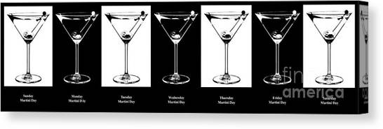 Gin Canvas Print - Martini Week by Jon Neidert