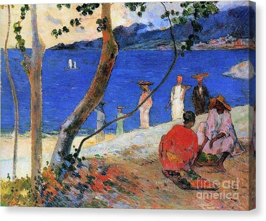 Post-impressionism Canvas Print - Martinique Island by Paul Gauguin