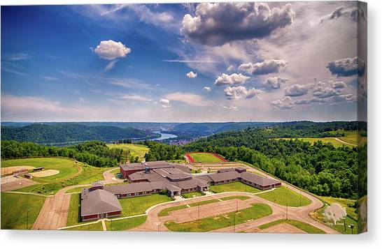 Ohio Valley Canvas Print - Martins Ferry High School by Flying Dreams