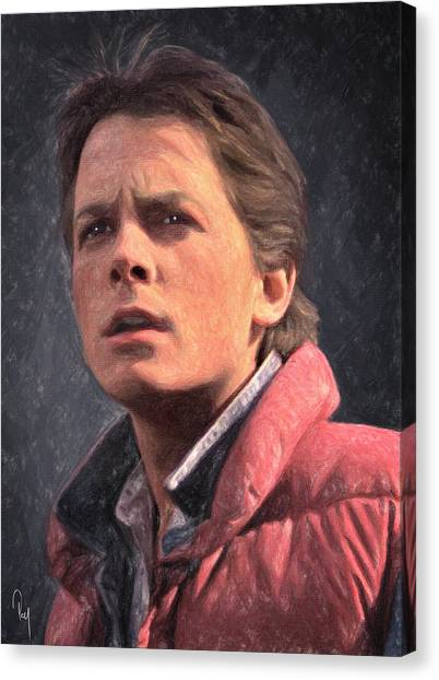 Back To The Future Canvas Print - Marty Mcfly by Zapista