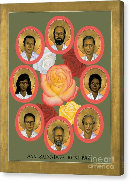 Martyrs Of The Jesuit University - Rlmju Canvas Print