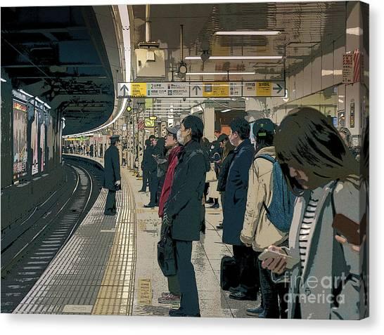 Marunouchi Line, Tokyo Metro Japan Poster 2 Canvas Print