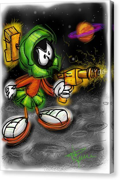 Saturn Canvas Print - Marvin The Martian by Russell Pierce