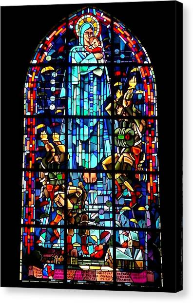 Mary And The Paratroopers Canvas Print