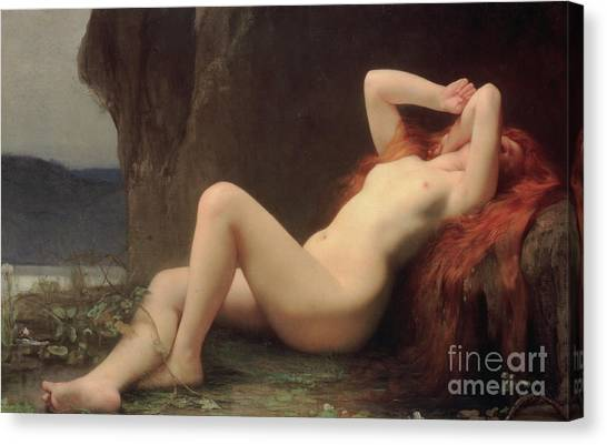 Cavern Canvas Print - Mary Magdalene In The Cave by Jules Joseph Lefebvre