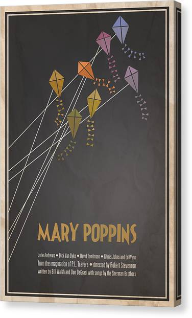 Singing Canvas Print - Mary Poppins by Megan Romo