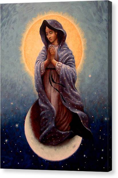 Virgin Mary Canvas Print - Mary Queen Of Heaven by Timothy Jones