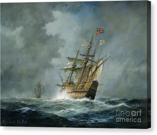 Boats Canvas Print - Mary Rose  by Richard Willis