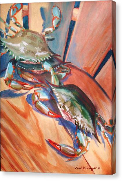 Maryland Blue Crabs Canvas Print