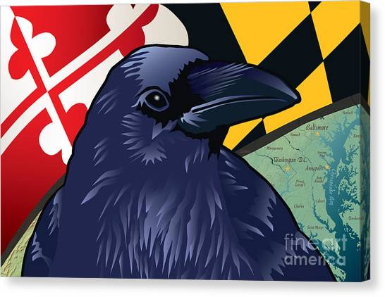 Maryland Citizen Raven Canvas Print
