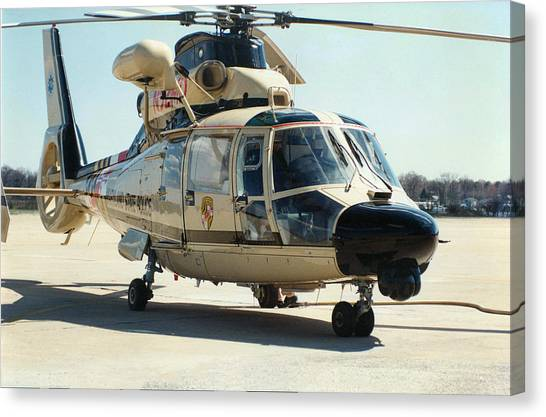 Medivac Canvas Print - Maryland State Police Helicopter N92md - Martin State Airport, Maryland by Timothy Wildey