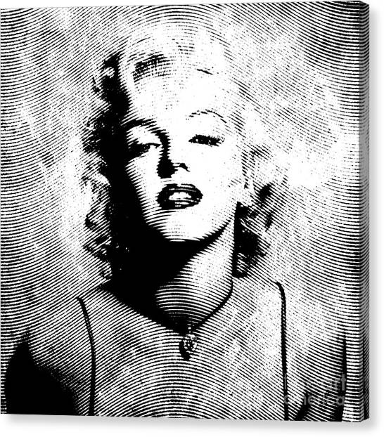 Monroe Canvas Print - Marilyn Monroe - 04a by Variance Collections