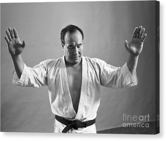 Kung Fu Canvas Print - Mas Oyama by The Harrington Collection