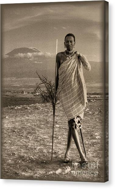 Masai Kilimanjaro Canvas Print