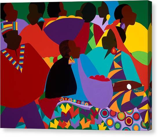 Canvas Print - Masekelas Marketplace Congo by Synthia SAINT JAMES