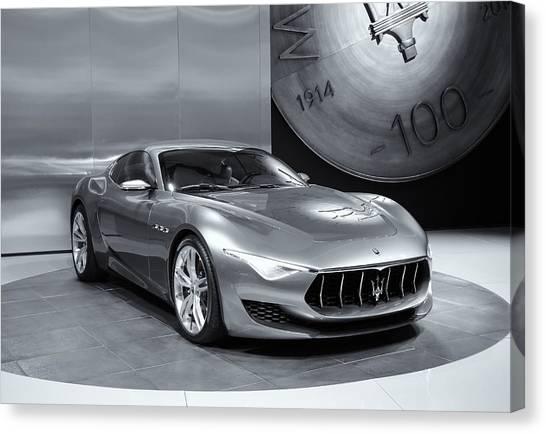 Maserati Alfieri Reflections Mono Canvas Print