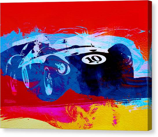 Old Cars Canvas Print - Maserati On The Race Track 1 by Naxart Studio