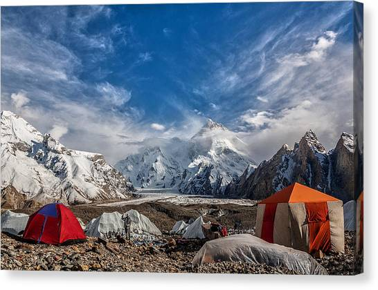 Karakoram Canvas Print - Masherbrum by Alireza Teimoury