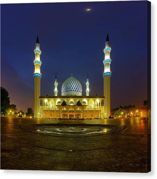 Islam Canvas Print - Masjid Shah Alam by Mohd Rizal Omar Baki