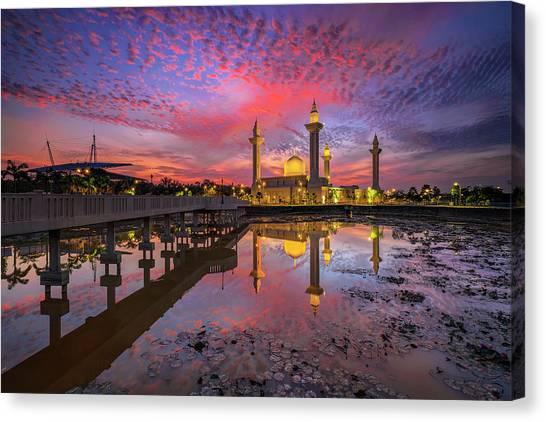 Islam Canvas Print - Masjid Tengku Ampuan Jemaah by Mohd Rizal Omar Baki