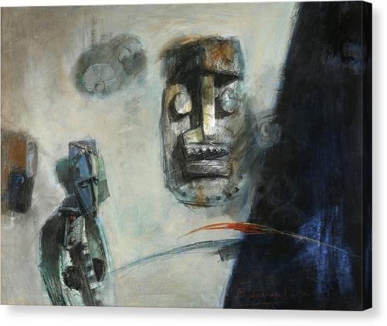 Symbol Mask Painting -02 Canvas Print