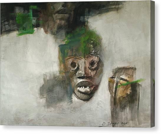 Symbol Mask Painting - 06 Canvas Print