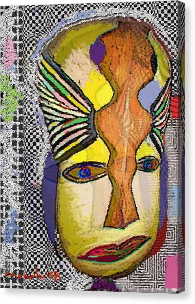 Mask 13 Canvas Print by Noredin Morgan