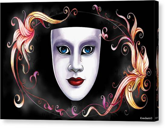 Mask And Vines Canvas Print