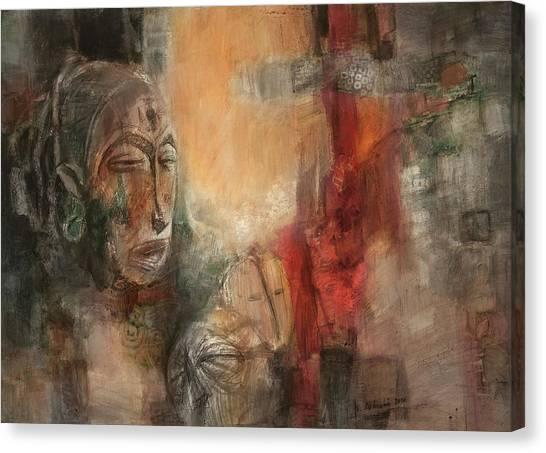 Symbol Mask Painting - 08 Canvas Print