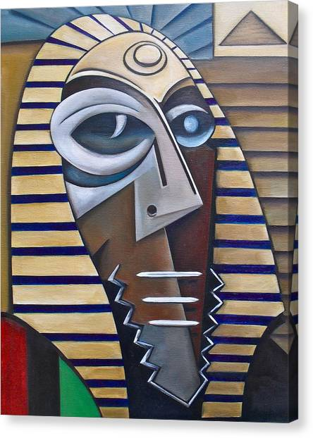 Mask Of The Enigmatic Canvas Print by Martel Chapman