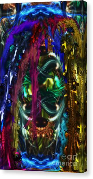 Mask Of The Spirit Guide Canvas Print