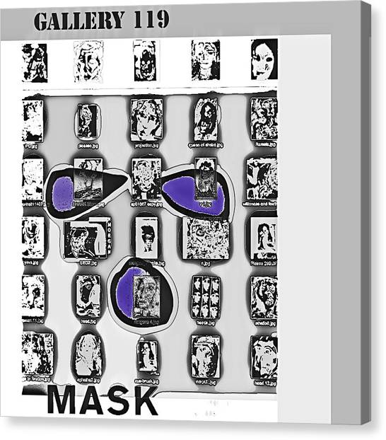 Mask Post Card Canvas Print by Noredin Morgan