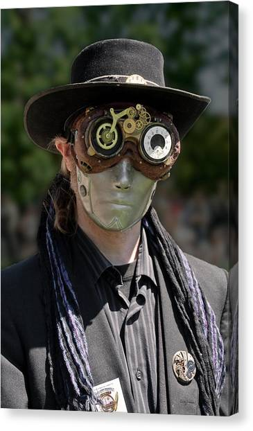 Masked Man - Steampunk Canvas Print
