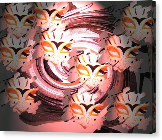 Masks Canvas Print by Judy Arline  Puckett