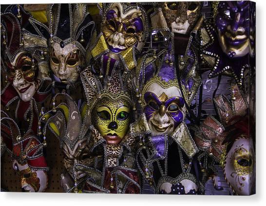Fleas Canvas Print - Masks New Orleans by Garry Gay